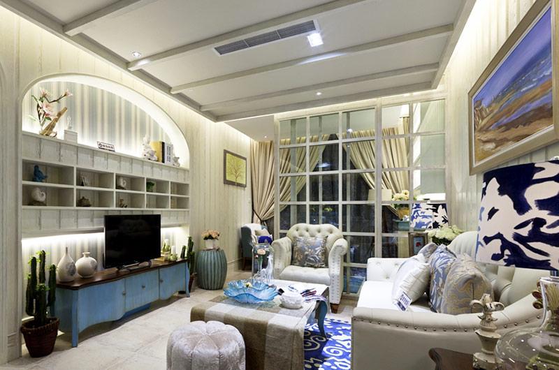 奢华地中海风情客厅装饰大全