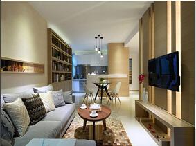 简约风格二居装修效果图 时尚简洁空间