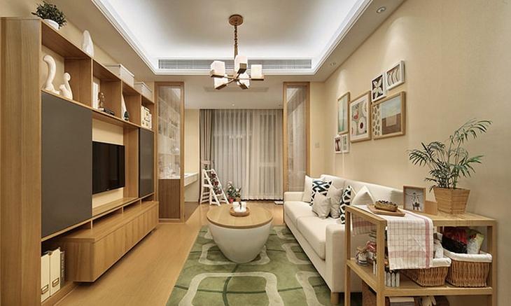 简约风格两居室装修客厅效果图