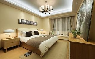 优雅简约质感卧室实景图