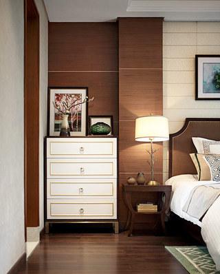 168平简约风格四房卧室展示柜