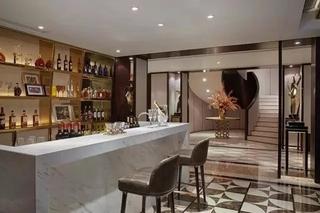 古典美式别墅 酒柜吧台效果图
