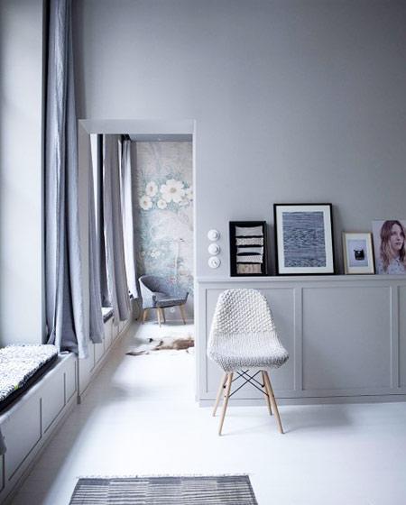 62平单身公寓客厅展示柜设计