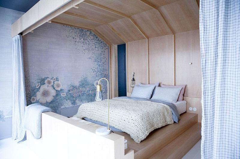 自然法式混搭风卧室效果图