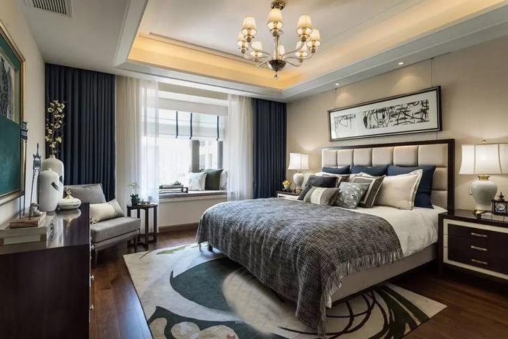 豪华典雅中美风卧室效果图