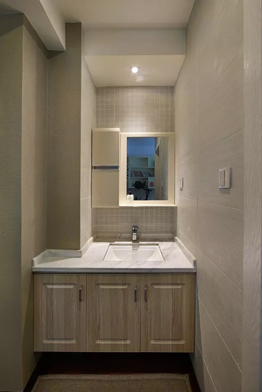 美式风格三居室装修洗手台装修