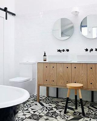 简约风格浴室柜效果图