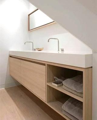 简约风格木质浴室柜图片