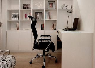 简约风格婚房装修小书房效果图