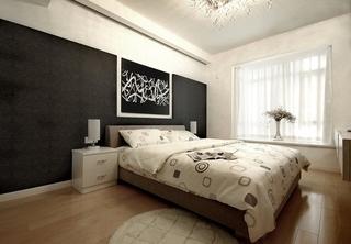 简约风格婚房装修卧室背景墙装修
