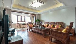 中式风格三室两厅装修客厅效果图