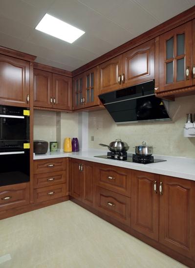 中式风格三室两厅装修中式橱柜装修