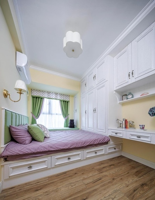 混搭风格三居室装修客卧榻榻米装修