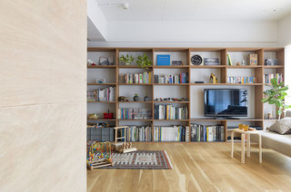 日式风格两居室客厅效果图
