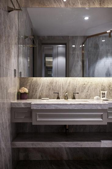 美式风格三室两厅装修洗手台设计