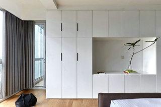 155平日式三居室卧室衣柜设计