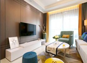 浓郁咖啡色装修  现代简约二居室装修