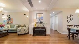 美式风格四房两厅装修木质地板装修