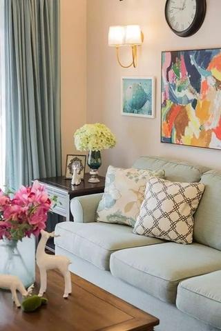 美式风格四房两厅装修布艺沙发图片