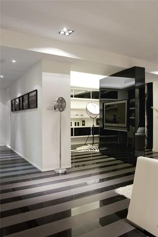简约风格三居室装修客厅地板装修