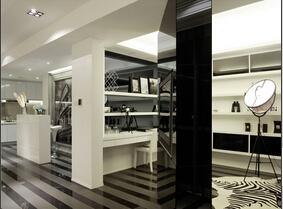 黑白色的简约三居室  并没有那么单调