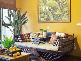 彩色复古东南亚风格 小户型一居设计