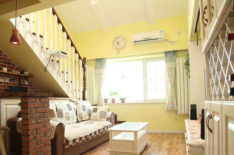 温馨田园风复式楼 小客厅效果图