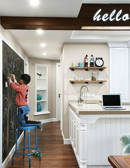 125㎡美式风格三居室走廊图