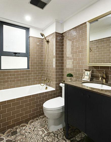 125㎡美式风格三居室卫生间图片