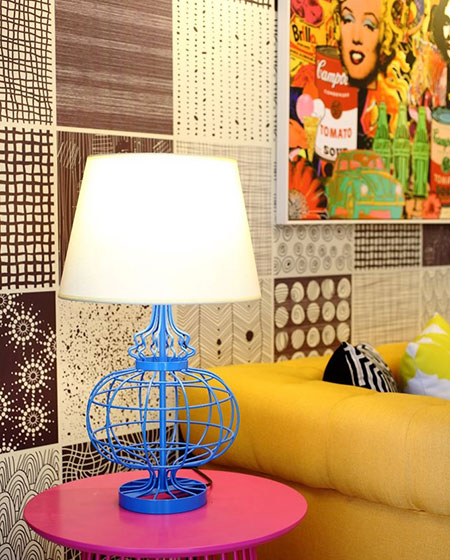 30平波普风公寓台灯设计