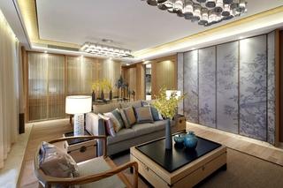 简约风格四房两厅装修客厅设计图