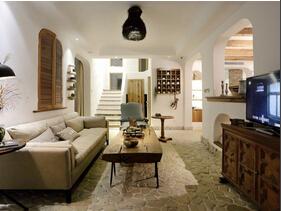 田园风格三室两厅装修图 充满艺术感的空间
