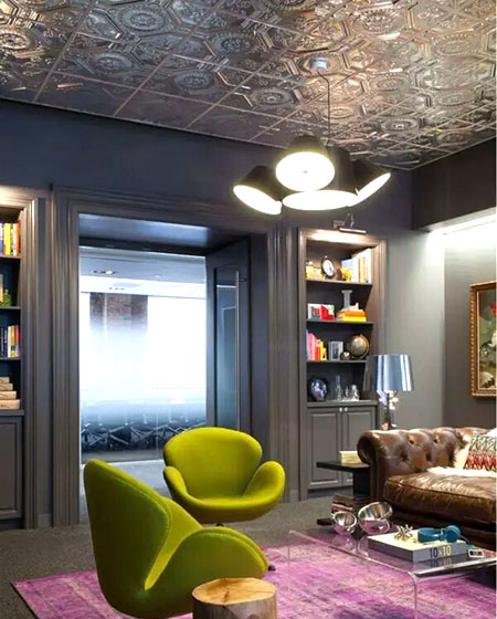 客厅创意吊顶装修装饰图