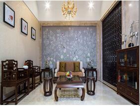 耐人寻味的中式风格装修 30万装120平三居室