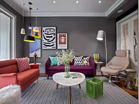 多彩家多彩生活 简约风格三室两厅装修效果图