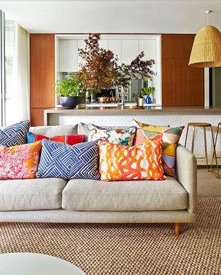 舒适客厅布艺沙发图片