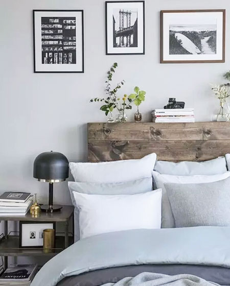 卧室木质床头装修设计