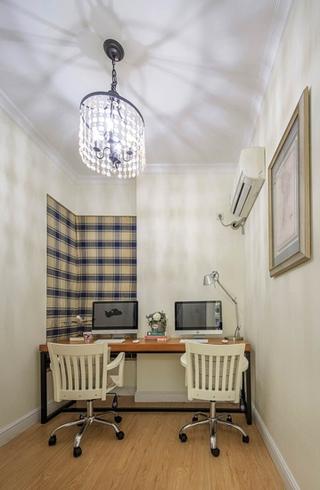 120平地中海风格三居书房效果图设计