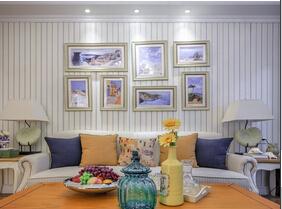 120平地中海风格三居室装修 海风习习