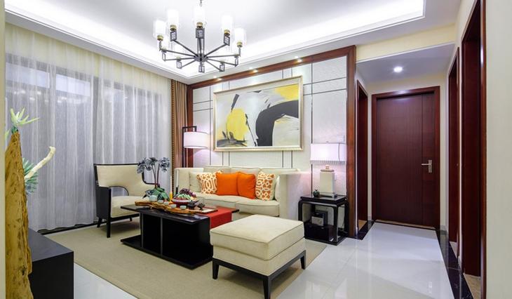 简约风格两居室装修沙发背景墙设计