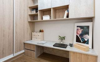 66平简约公寓书桌效果图设计