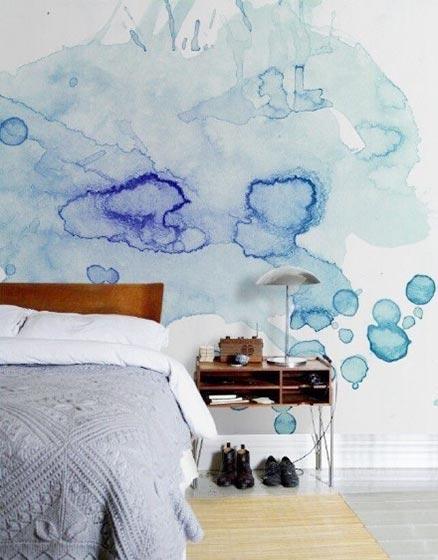 手绘背景墙装修装饰图片