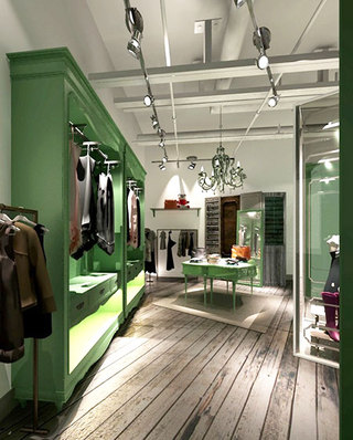 国外服装店店铺装潢图片