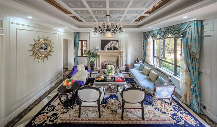 奢华欧式别墅客厅装饰大全