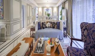 美式风格四室两厅装修客厅沙发图片