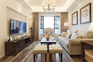 85㎡小户型简约美式沙发效果图