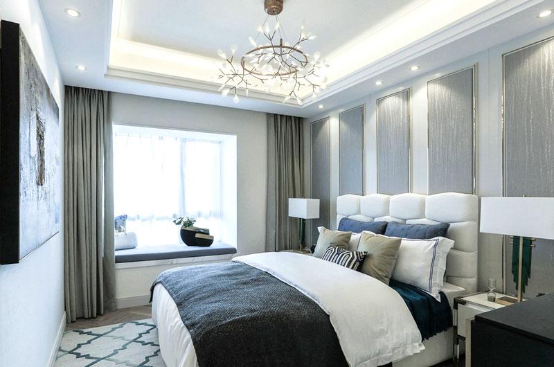 时尚现代法式样板房主卧室装修