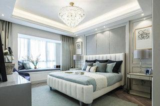 111平法式样板房次卧效果图设计