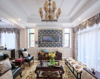 欧式风格装修豪华客厅装潢图