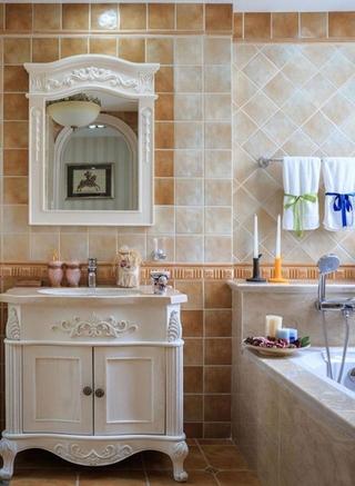 度假别墅装修浴室柜图片